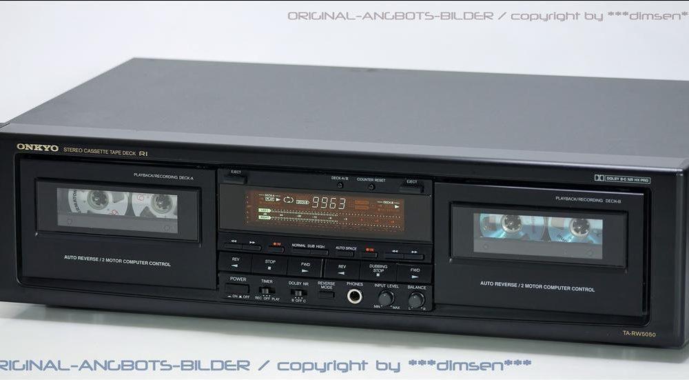 黑色 安桥 ONKYO TA-RW5050 双卡座