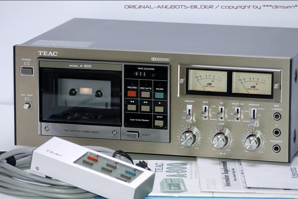 TEAC A-800 双表头古典卡座