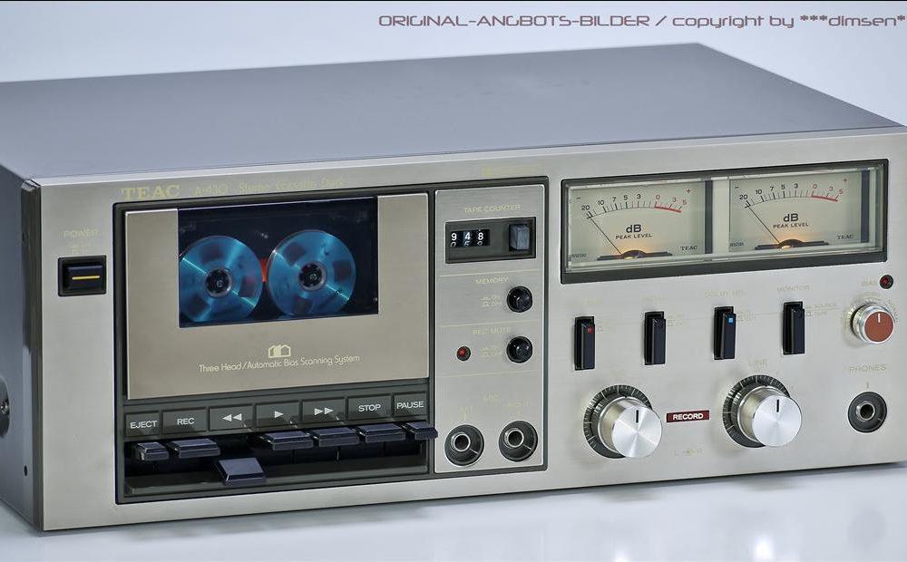 TEAC A-430 三磁头双表立体声古典卡座