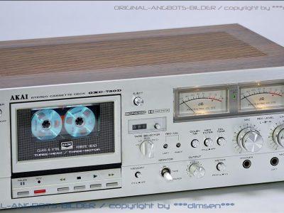 雅佳 AKAI GXC-750D 双表头古典卡座