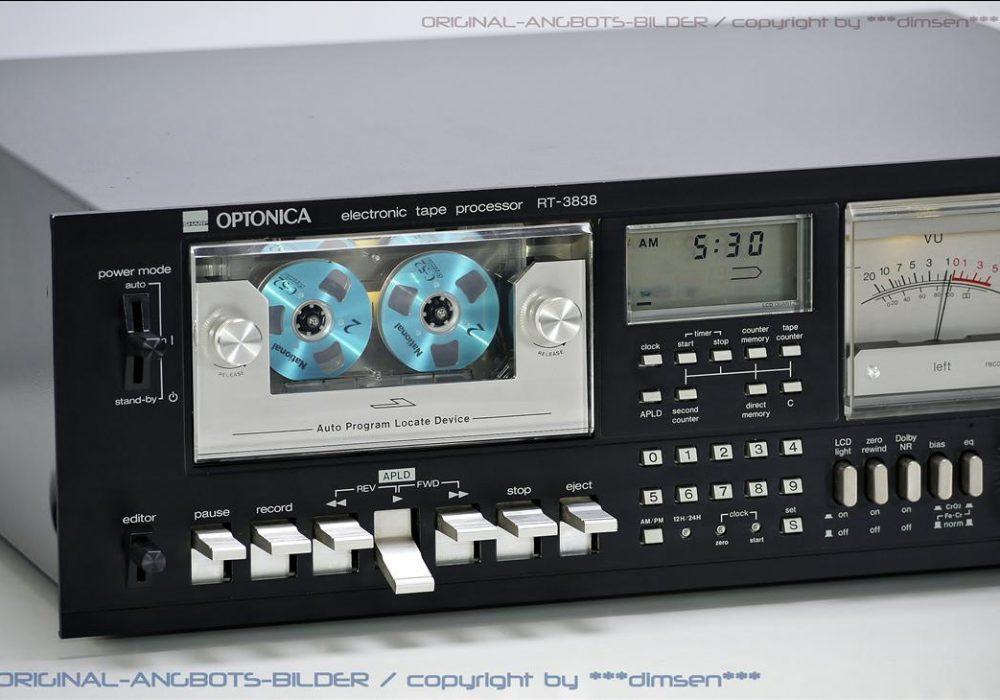 夏普 OPTONICA RT-3838 双表头古典卡座