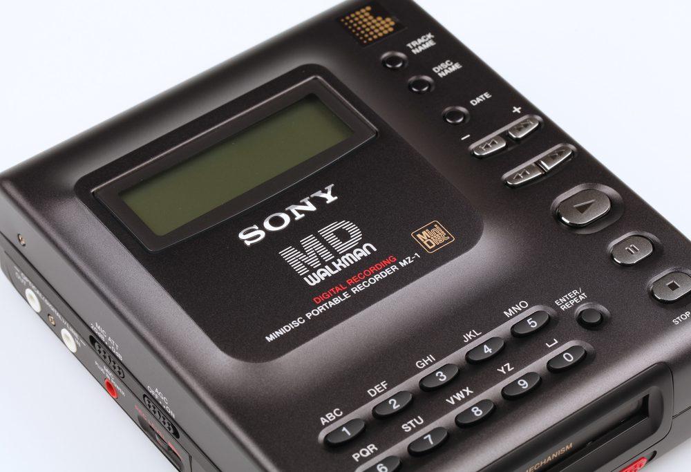 Sony MZ-1 Minidisc Recorder Top View
