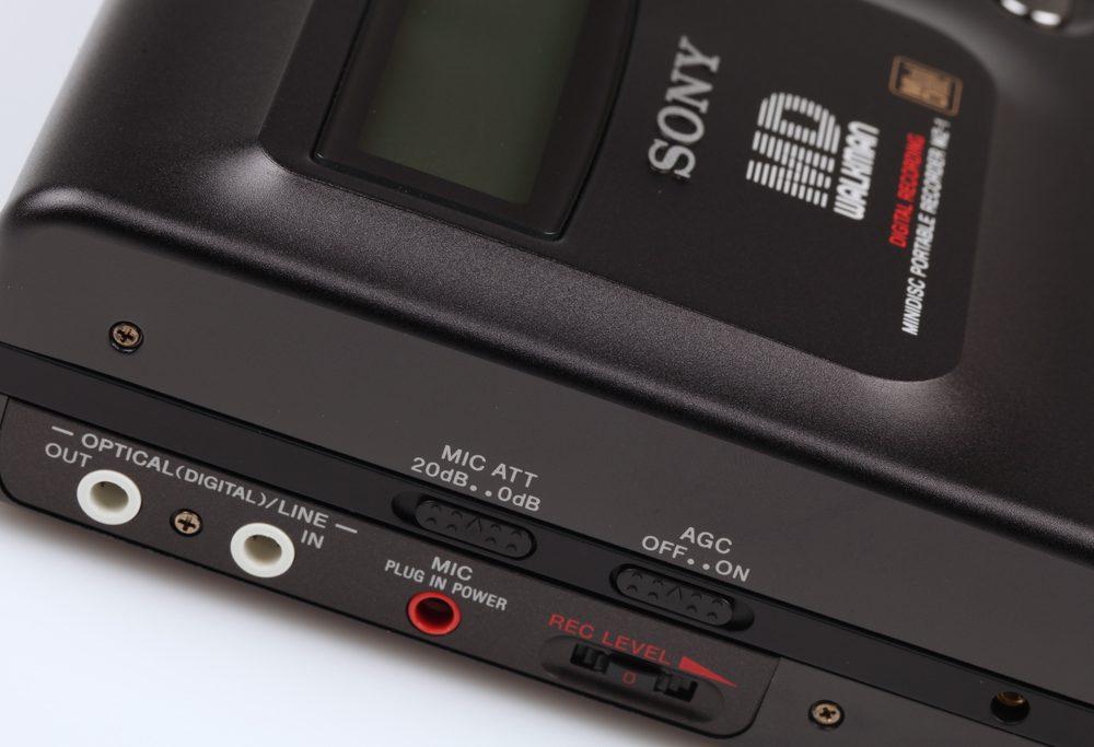 Sony MZ-1 Minidisc Recorder Left View