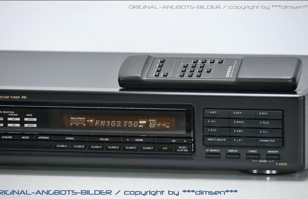 安桥 ONKYO Integra T-4970 FM/AM 数字调谐 收音头