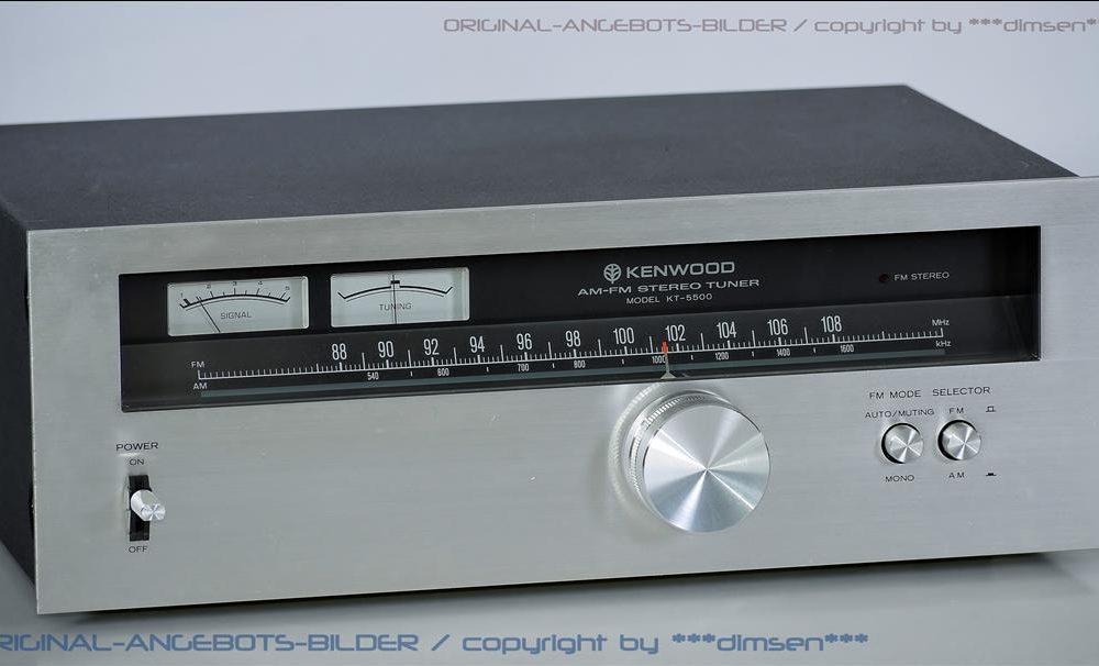 建伍 KENWOOD KT-5500 FM/AM 立体声收音头