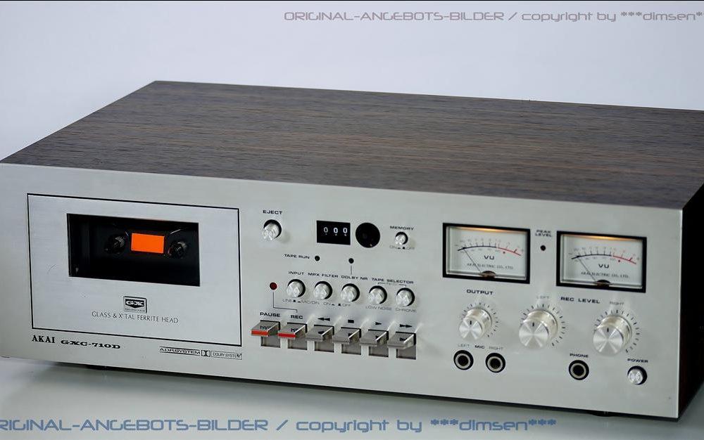 雅佳 AKAI GXC-710D 古典双表头卡座