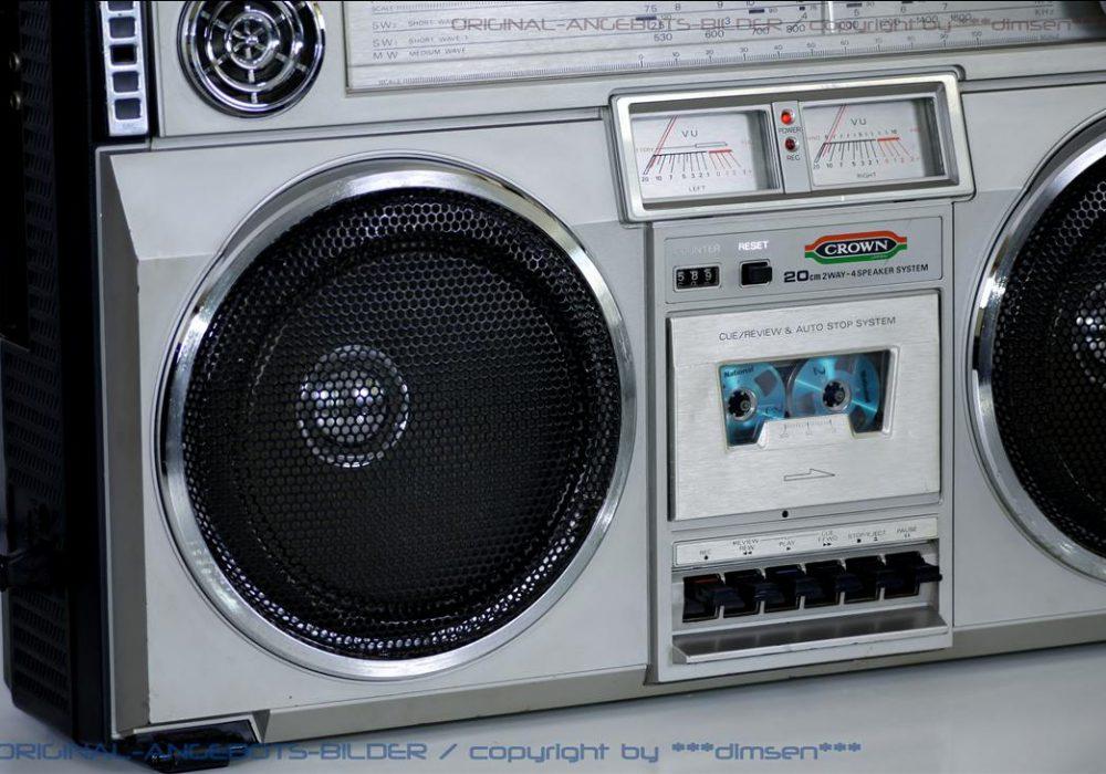CROWN 单卡四喇叭立体声收录机