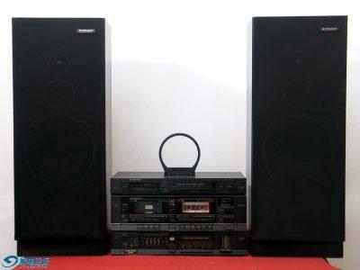 先锋 PIONEER 555组合音响 功放卡座 三分频落地音箱