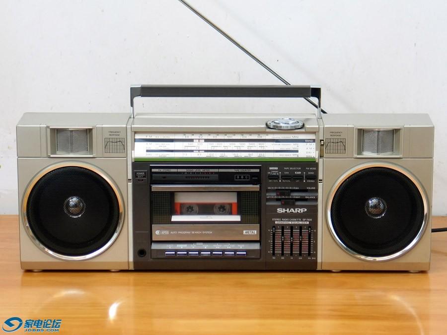 夏普 SHARP GF-7600 四波段单卡收录机