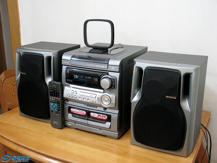 爱华 aiwa NSX-K370 组合音响 三碟连放CD机卡座收音机