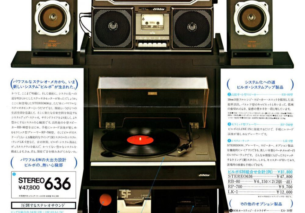 【广告资料】Victor 收录机 (1978年)