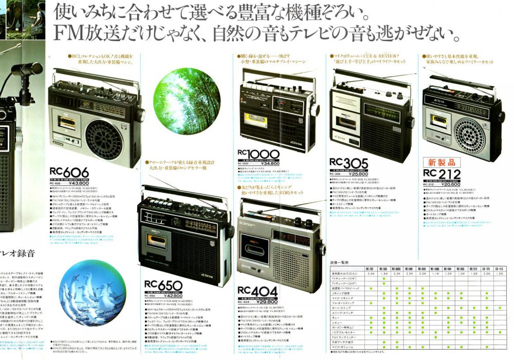 【广告资料】Victor 收录机 录音机 (1976年)