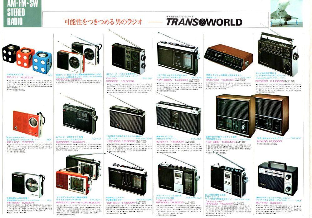 サンヨー ラジオ カセットレコーダー 1972年(昭和47年)