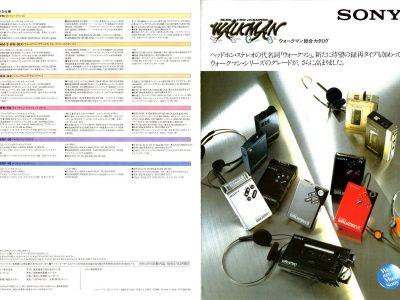 SONY・ラジオカセット・テープレコーダー・マイクロカセット・1982年(昭和57年)