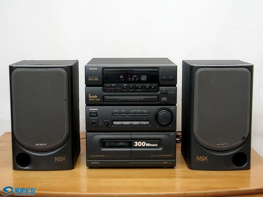 爱华 aiwa NSX-320 CD/卡座/收音机 组合音响