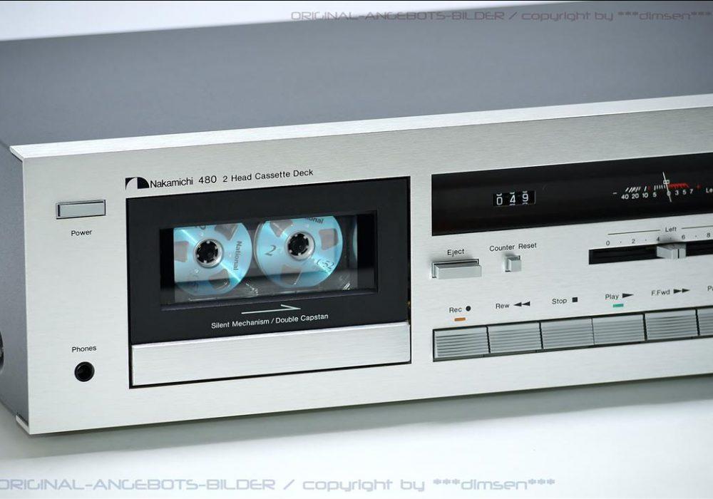 银色 中道 NAKAMICHI 480 经典二磁头卡座