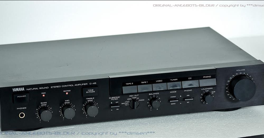 雅马哈 YAMAHA C-45 功率放大器