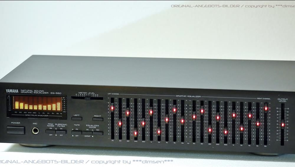 雅马哈 YAMAHA EQ-550 二十段频谱图形均衡器
