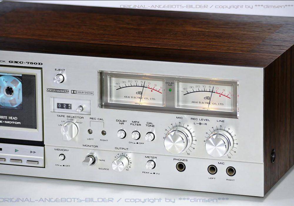 雅佳 AKAI GXC-750D 双表头卡座