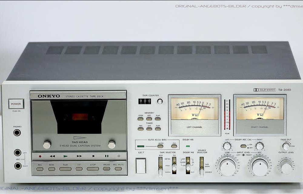 安桥 ONKYO TA-2080 双表头古典卡座