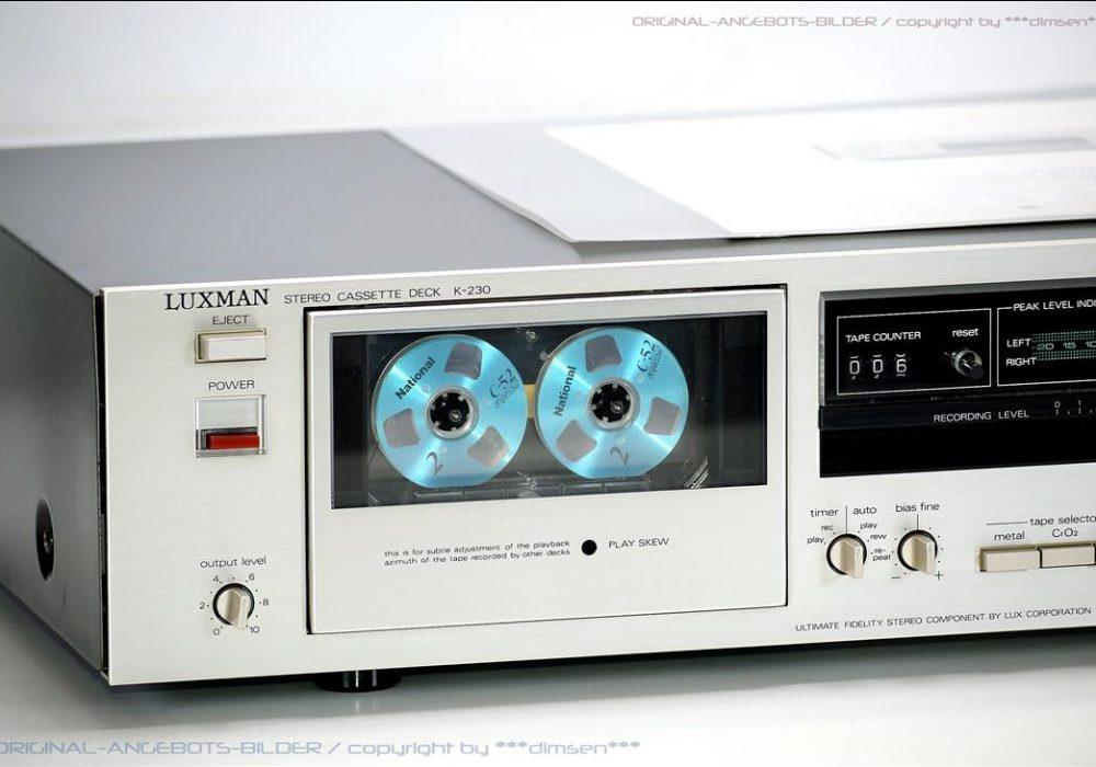 力士 LUXMAN K-230 立体声卡座