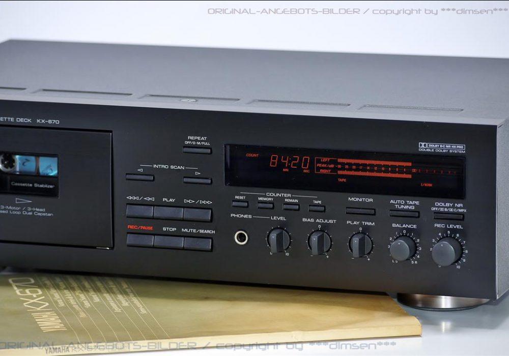 雅马哈 YAMMHA KX-670 三磁头卡座