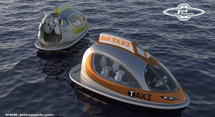 jet capsule water boats proposes private + taxi versions