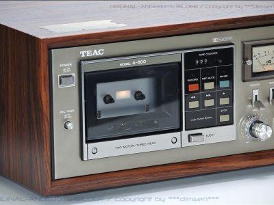 TEAC A-800 三磁头双表古典卡座