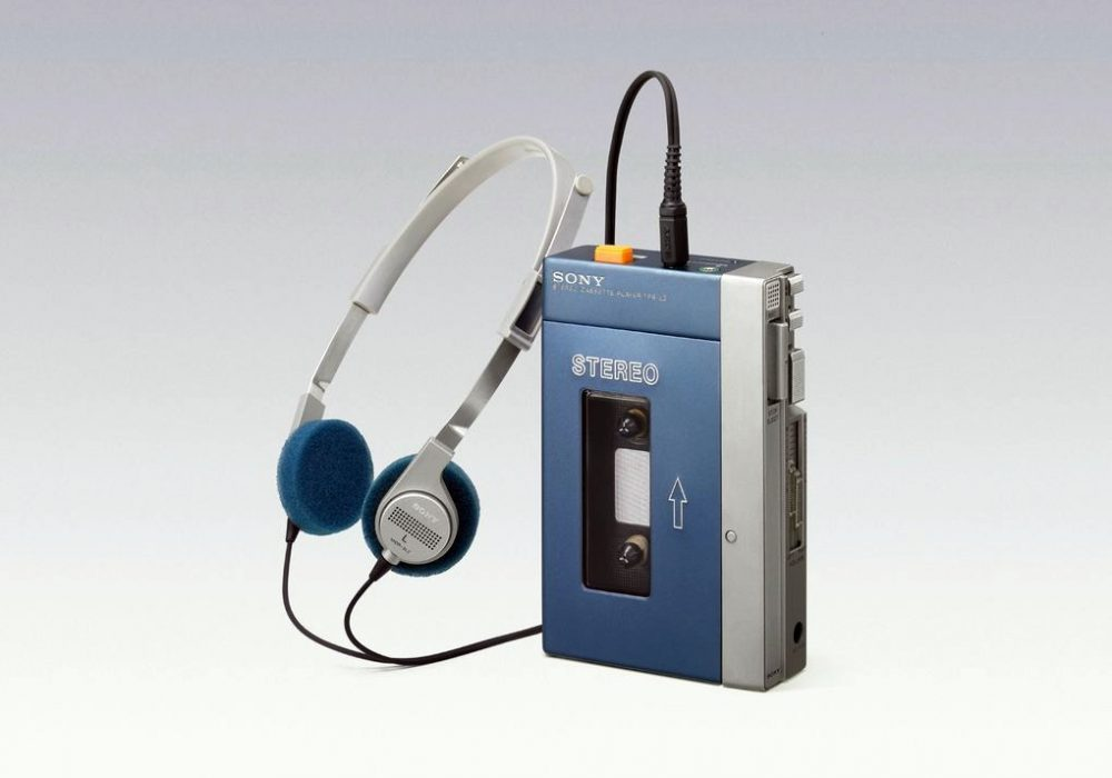 The original Walkman portable cassette player, released July 1, 1979.