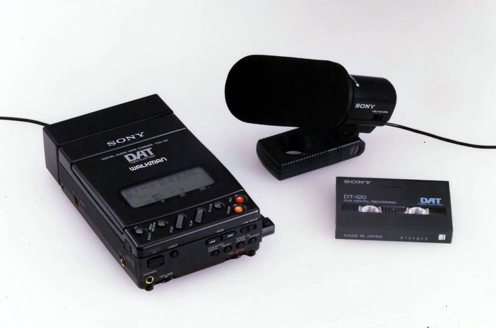 Sony introduced Digital Audio Tapes (DAT) in 1987. This Walkman audio recorder/player followed in 1990.