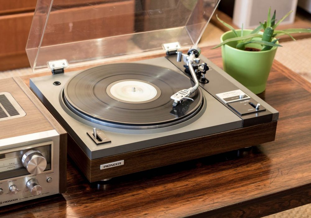 先锋 PIONEER PL-115D Semi-Automatic 黑胶唱机