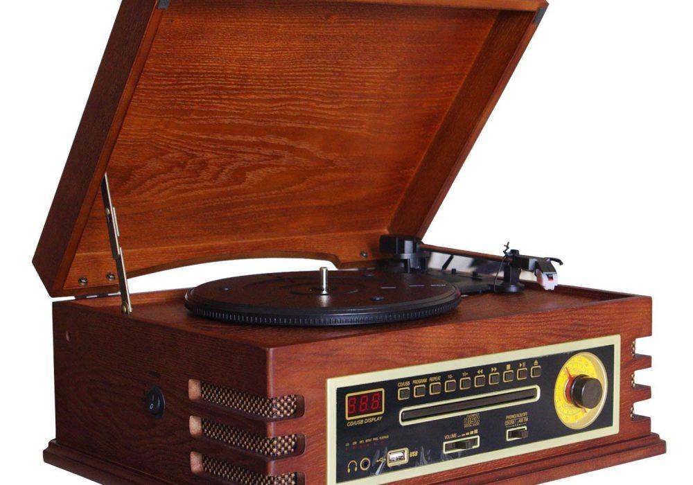 华携 LP黑胶唱片机/电唱机 USB/CD机/收音机