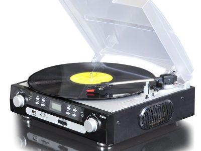 华携  仿古黑胶唱片机,USB,SD卡,收音机