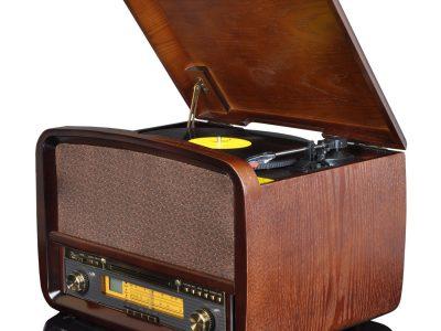 华携 LP黑胶唱片/CD/收音机 一体机 仿古音响
