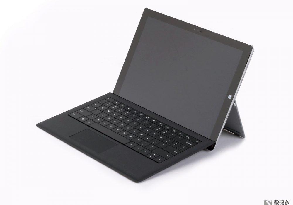 Microsoft 微软 Surface Pro3-安装了键盘的样子