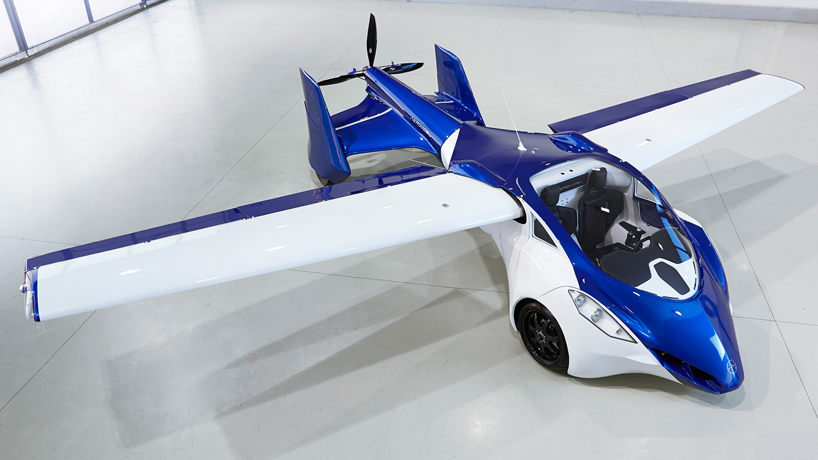 collapsible aeromobil 3.0 flying car shortens take-off time