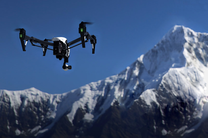 DJI inspire 1 drone's camera captures 4K video + 12 megapixel photos