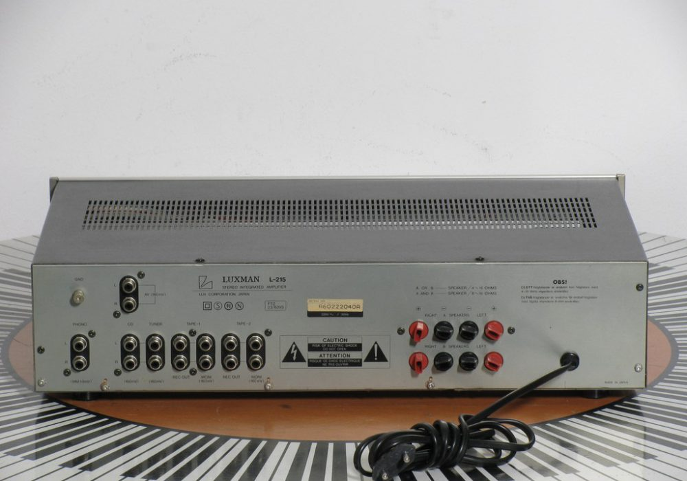 力士 Luxman L-215 立体声功率放大器