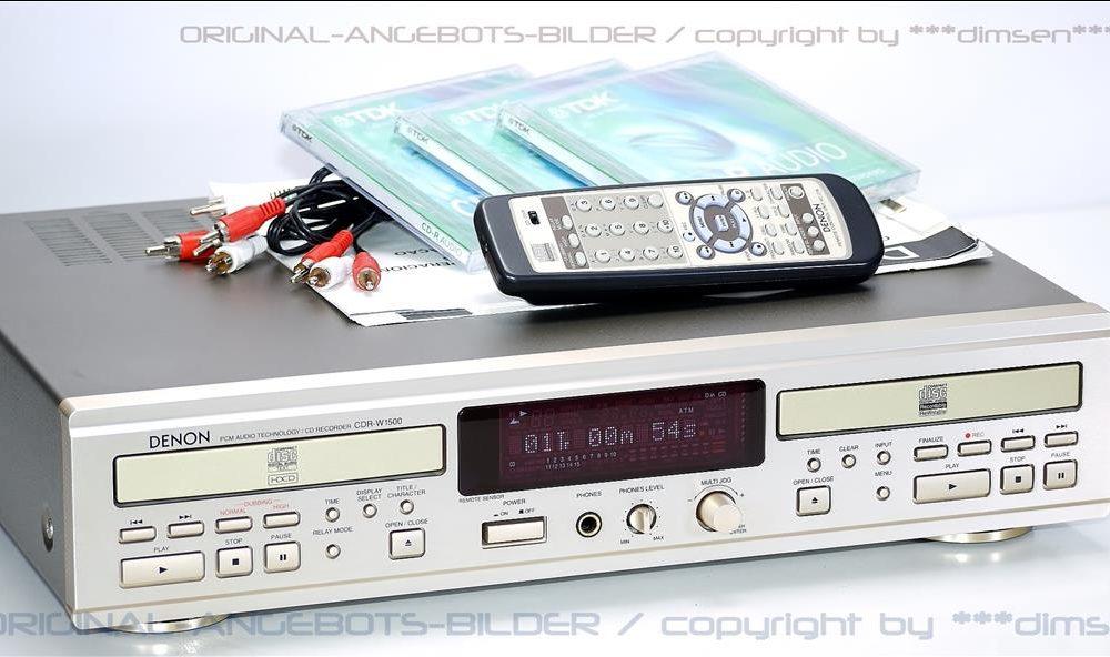 天龙 DENON CDR-W1500 CD录音机