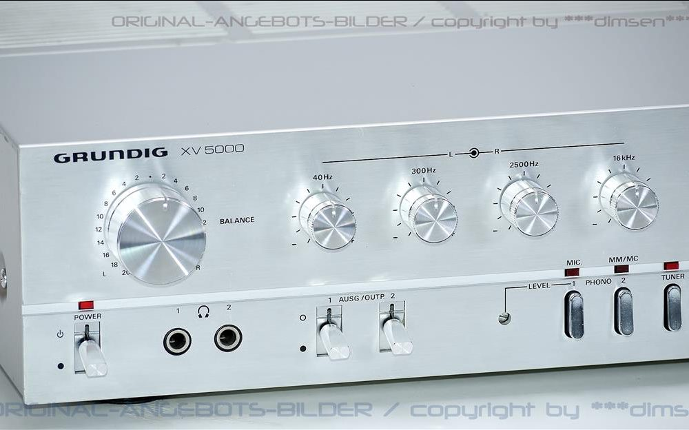 根德 GRUNDIG XV5000 Hi-Fi 前级放大器