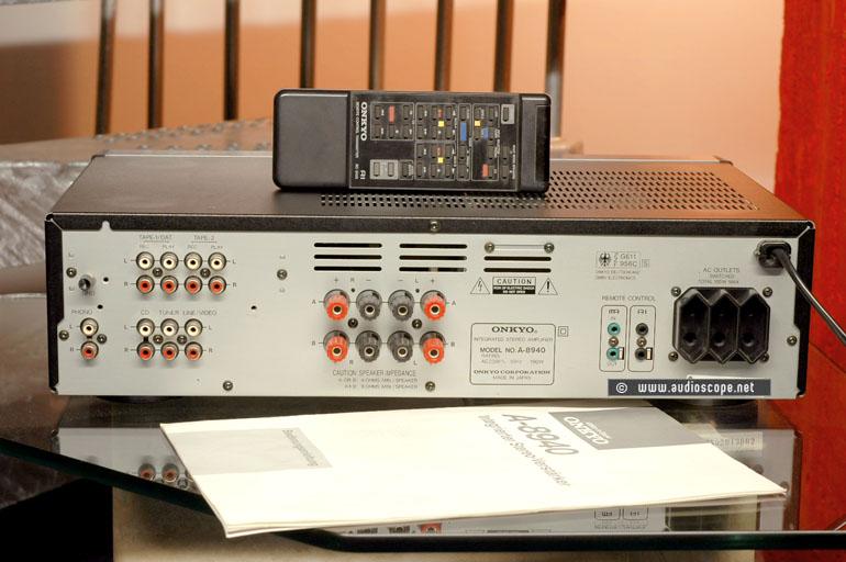 Onkyo TA 8940, remote