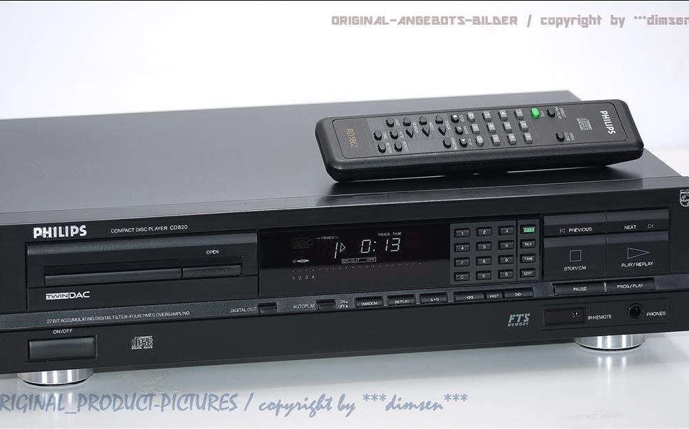 飞利浦 PHILIPS CD820 TWIN-DAC 高级CD播放机