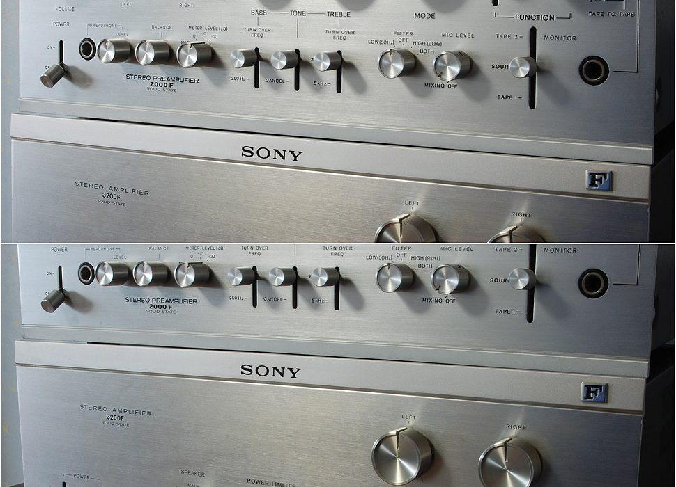 索尼 SONY TA-2000F+TA-3200F 前后级功放