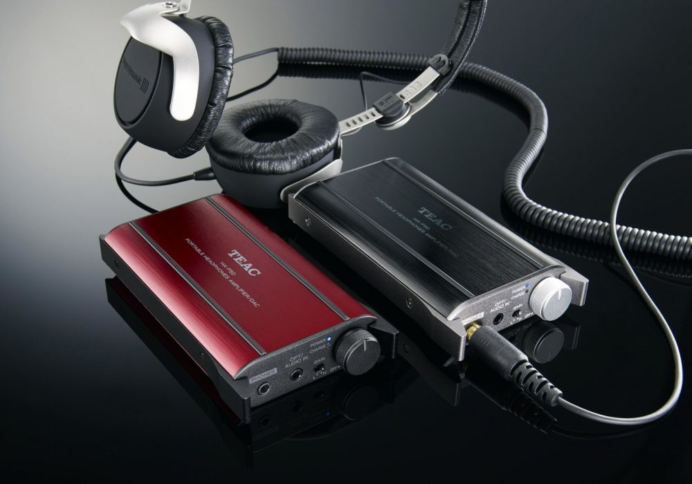 HA-P50 Red and Black with Headphones
