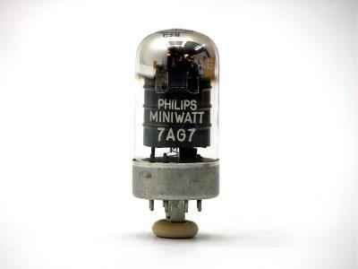 飞利浦 Philips Miniwatt 7AG7 电子管