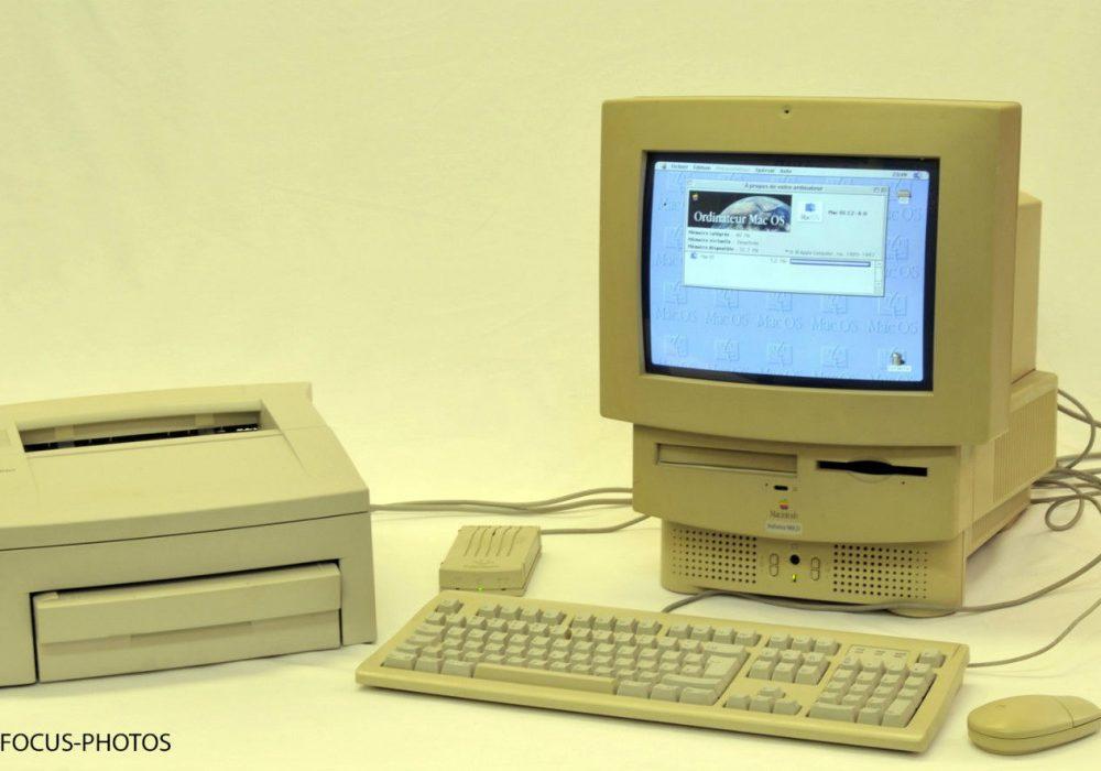 Macintosh Performa 580CD with LaserWriter Printer – FUNCTIONAL! – RARE!