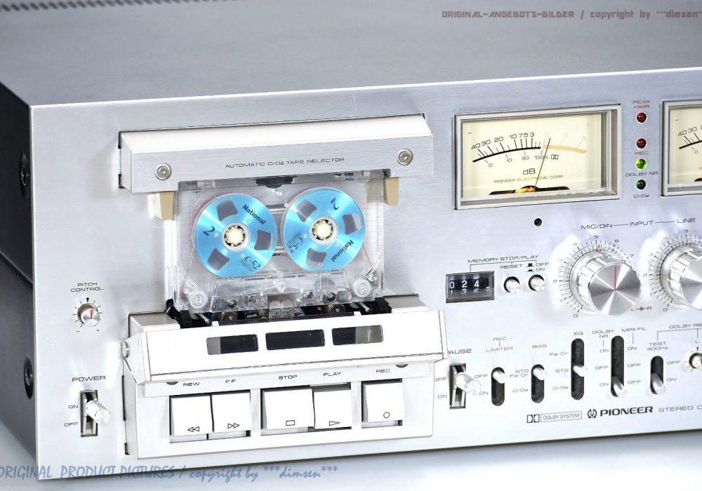 先锋 PIONEER CT-F1000 高级三磁头双表古典卡座