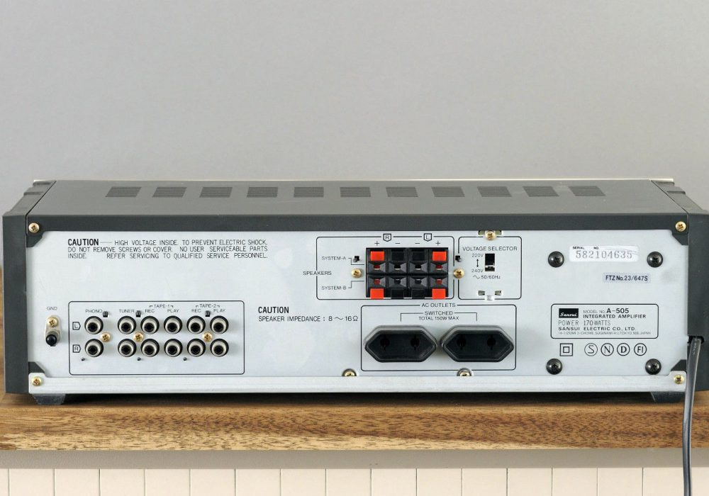 山水 SANSUI A-505 功率放大器
