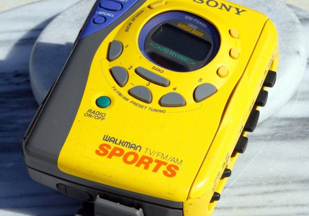 索尼 SONY WM-FS495 运动型 磁带随身听