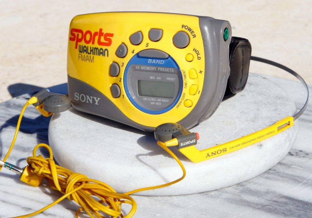 索尼 SONY SRF-M78 运动型磁带随身听 & MDR-W15 耳机